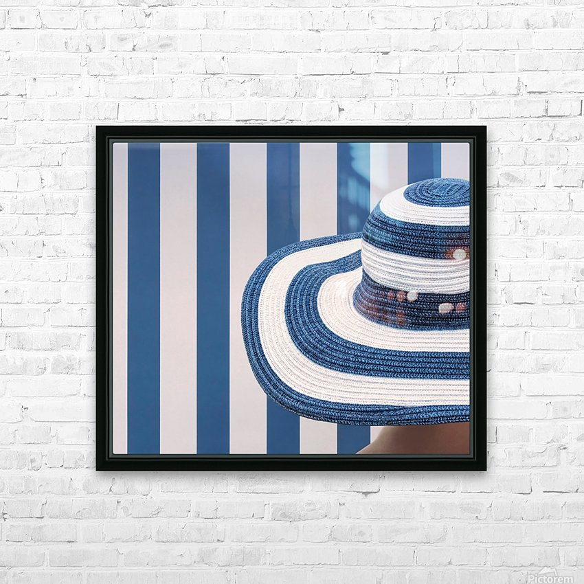 Blue and white HD Sublimation Metal print with Decorating Float Frame (BOX)
