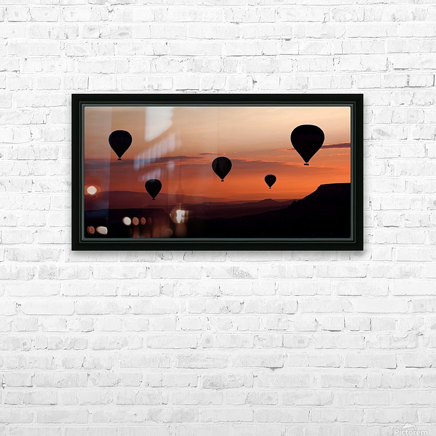 balloons HD Sublimation Metal print with Decorating Float Frame (BOX)