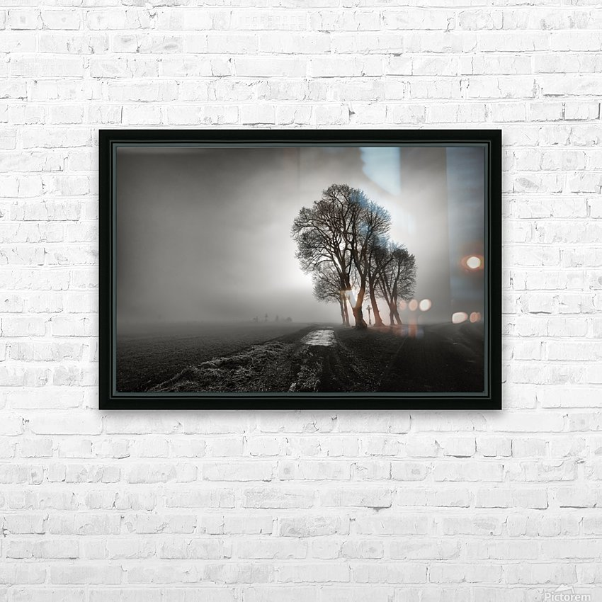 Fog HD Sublimation Metal print with Decorating Float Frame (BOX)