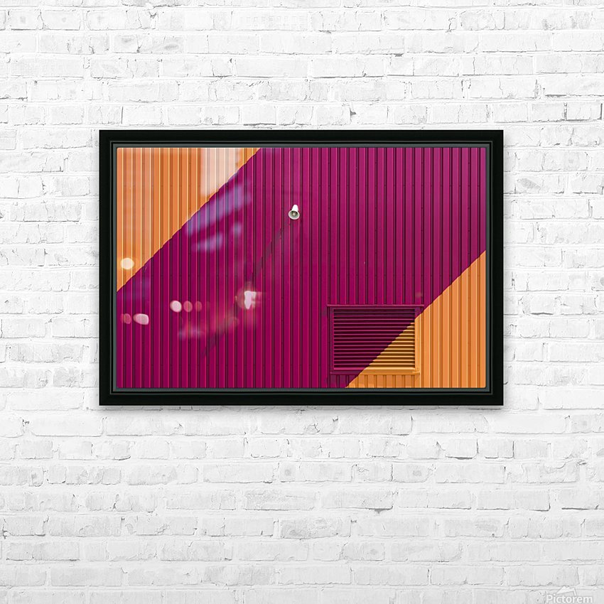 Orange corners HD Sublimation Metal print with Decorating Float Frame (BOX)