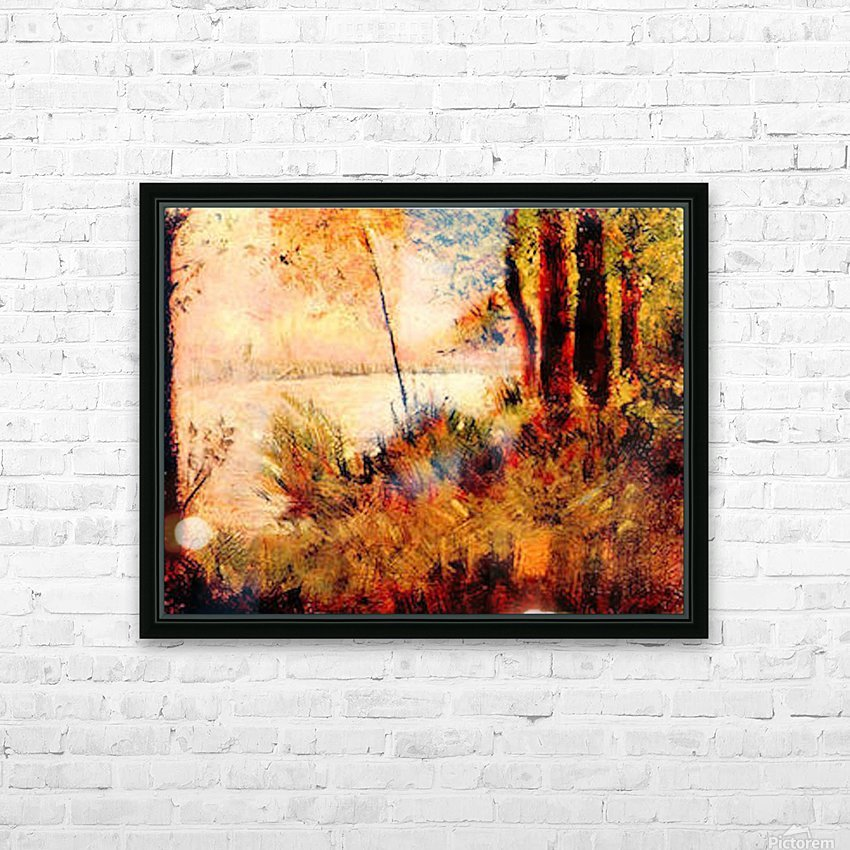 Seated slope by Seurat HD Sublimation Metal print with Decorating Float Frame (BOX)