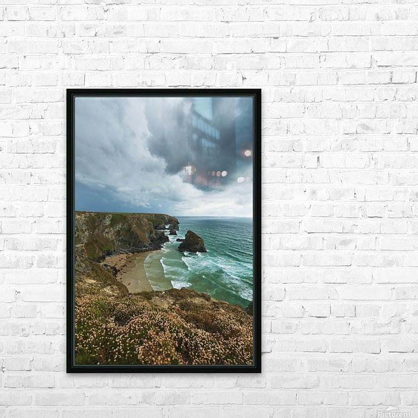 Bedruthan Steps; Cornwall, England HD Sublimation Metal print with Decorating Float Frame (BOX)