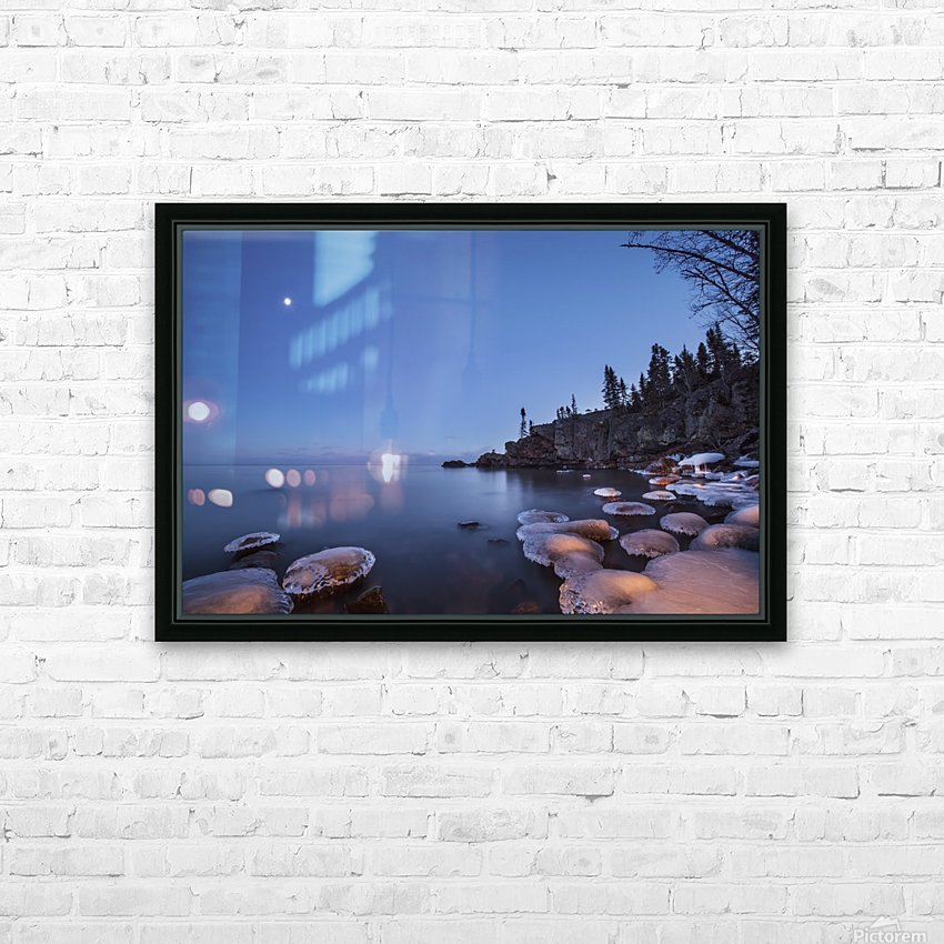 Lake superior at dusk; Thunder Bay, Ontario, Canada HD Sublimation Metal print with Decorating Float Frame (BOX)