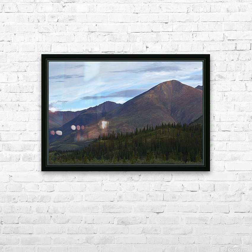 Late afternoon light shining on the mountains along the Wind River in the Peel Watershed; Yukon, Canada HD Sublimation Metal print with Decorating Float Frame (BOX)