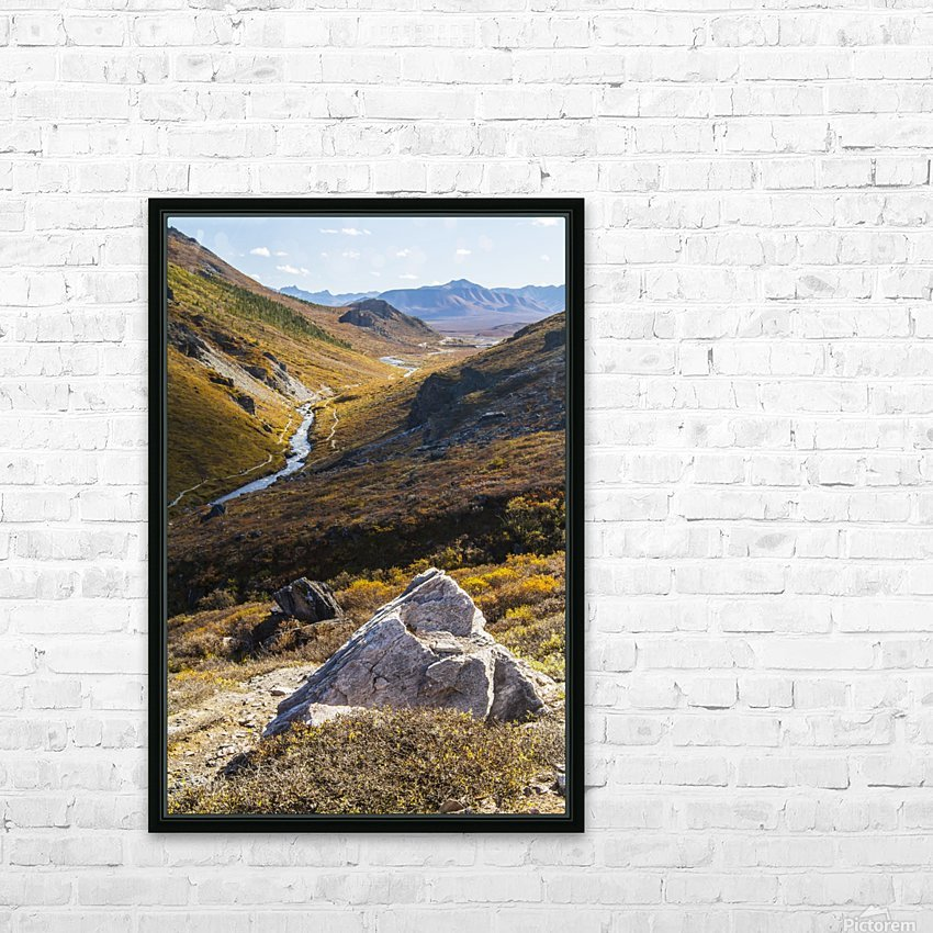 Savage River and the landscape in the rocky high country, Denali National Park and Preserve, interior Alaska; Alaska, United States of America HD Sublimation Metal print with Decorating Float Frame (BOX)