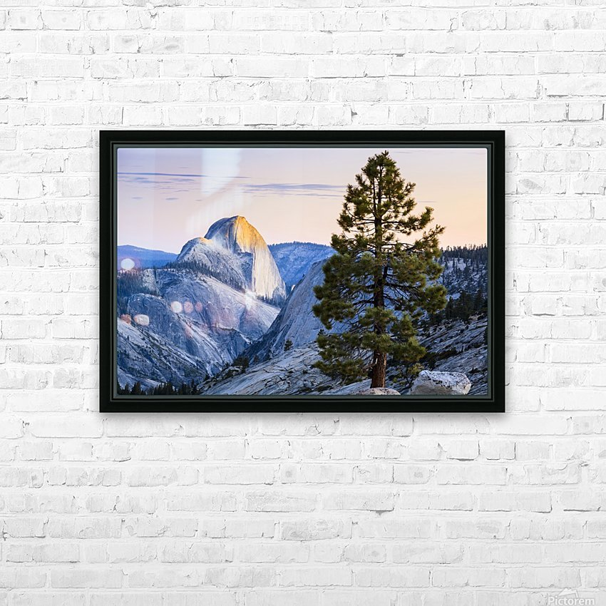 Half Dome seen from Olmsted Point, Yosemite National Park; California, United States of America HD Sublimation Metal print with Decorating Float Frame (BOX)