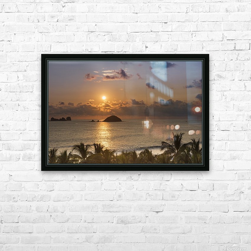 Sunset over the islands in front of Ixtapa; Ixtapa, Mexico HD Sublimation Metal print with Decorating Float Frame (BOX)