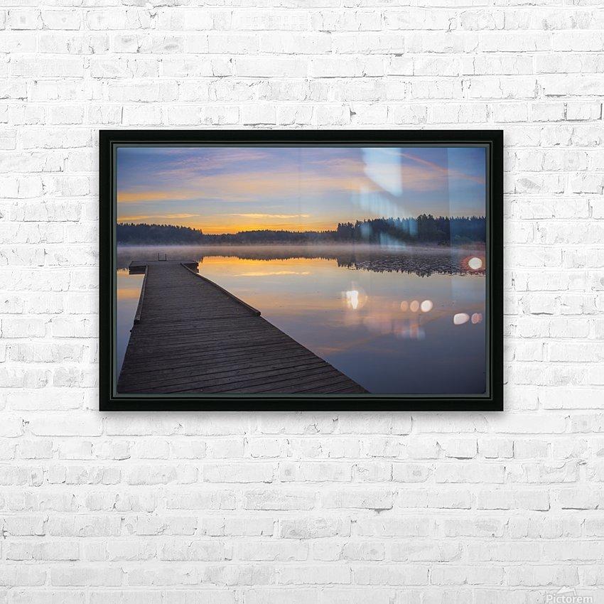 Reflection of a beautiful serene sunrise on peaceful Scott lake; Washington, United States of America HD Sublimation Metal print with Decorating Float Frame (BOX)