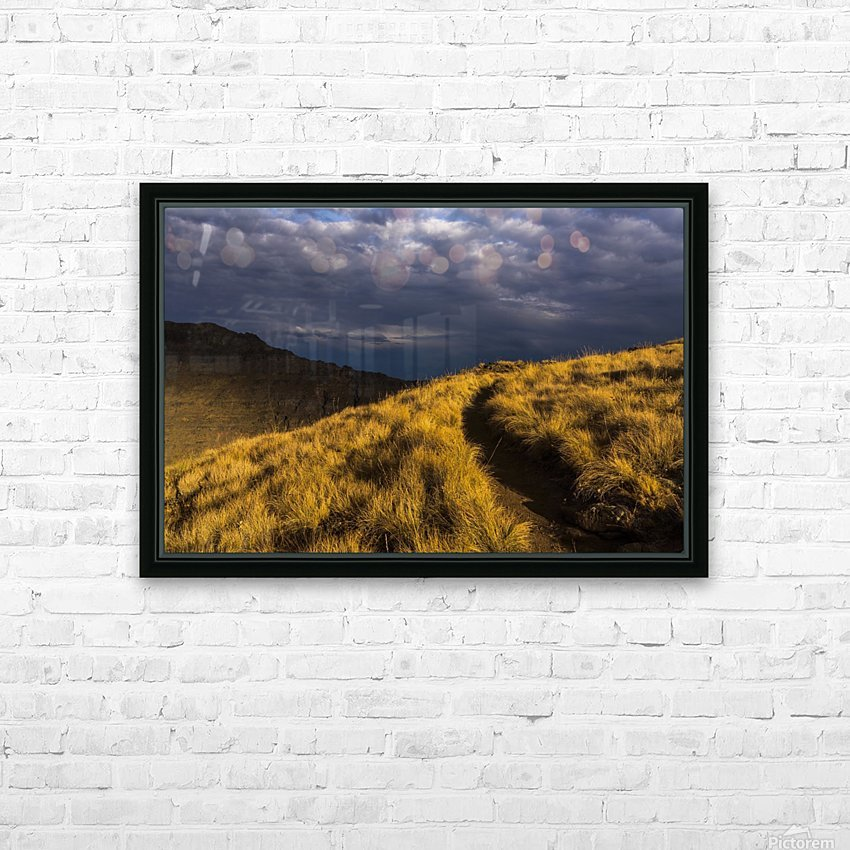 Evening sun highlights Kiger Gorge at Steens Mountain; Frenchglen, Oregon, United States of America HD Sublimation Metal print with Decorating Float Frame (BOX)