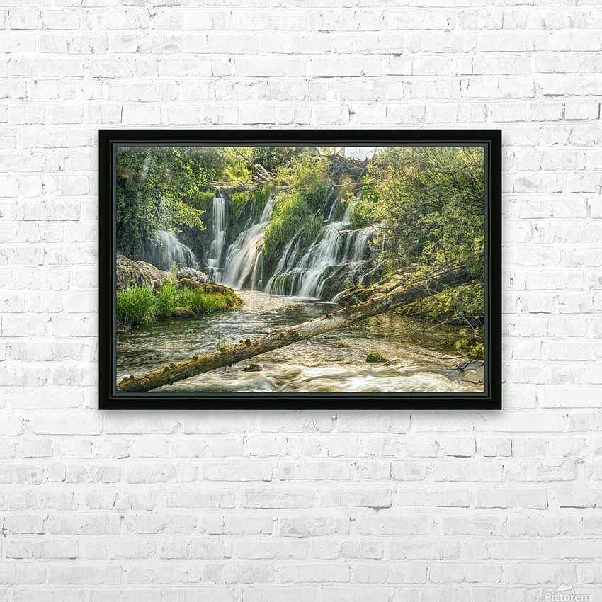 The Deschutes River Falls at the base of the old Olympia Brewery, an HDR image of only a portion of the falls; Tumwater, Washington, United States of America HD Sublimation Metal print with Decorating Float Frame (BOX)