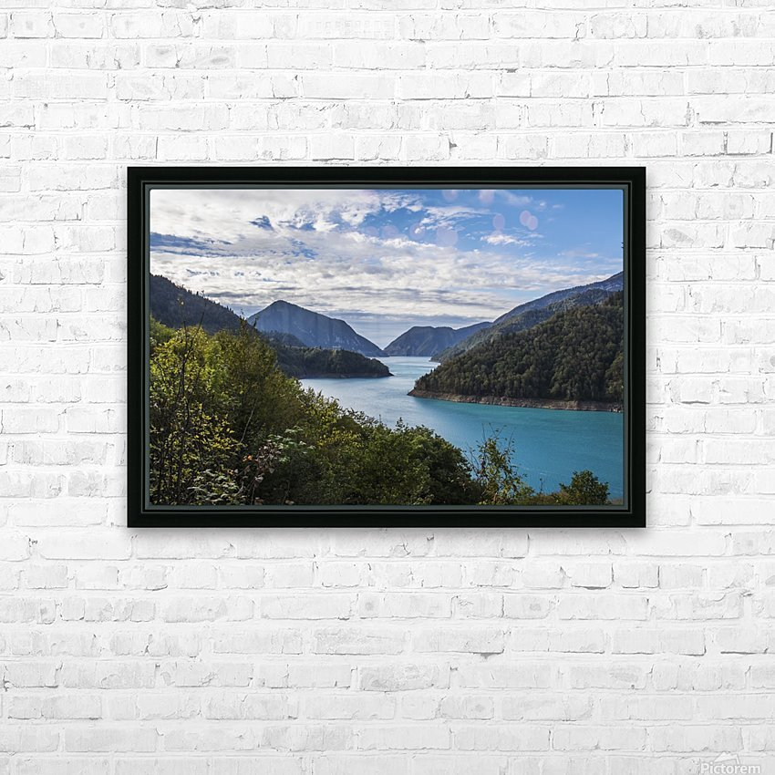 Inguri hydroelectric dam; Samegrelo-Zemo Svaneti, Georgia HD Sublimation Metal print with Decorating Float Frame (BOX)