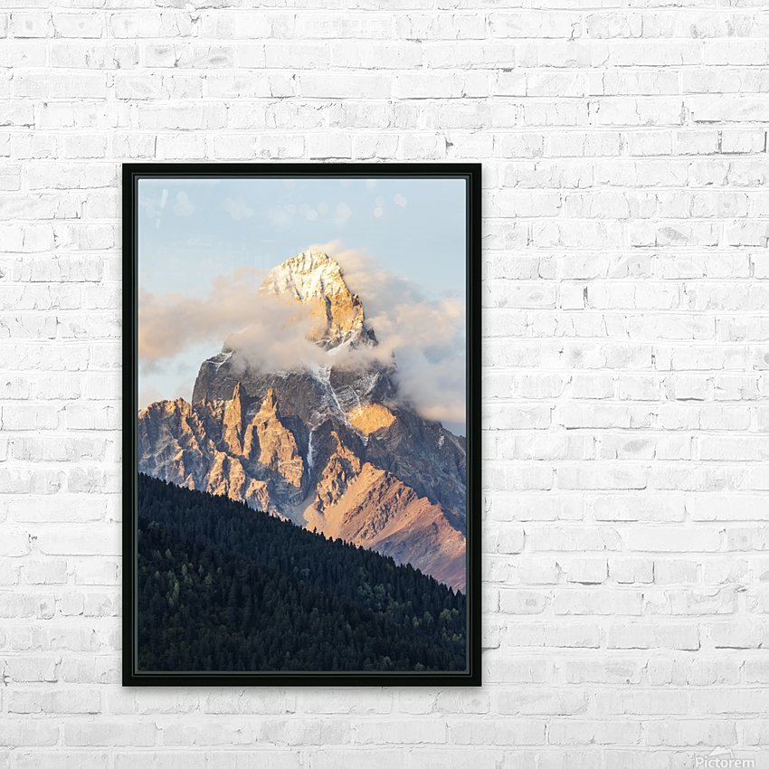 Mount Ushba, Caucasus Mountains, Zemo Svaneti National Park; Samegrelo-Zemo Svaneti, Georgia HD Sublimation Metal print with Decorating Float Frame (BOX)