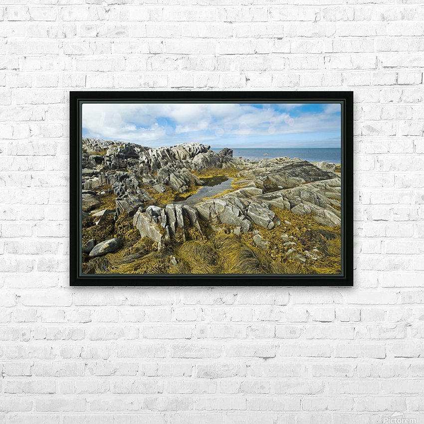 Shoreline along the Bay of Fundy, near Pubnico; Nova Scotia, Canada HD Sublimation Metal print with Decorating Float Frame (BOX)