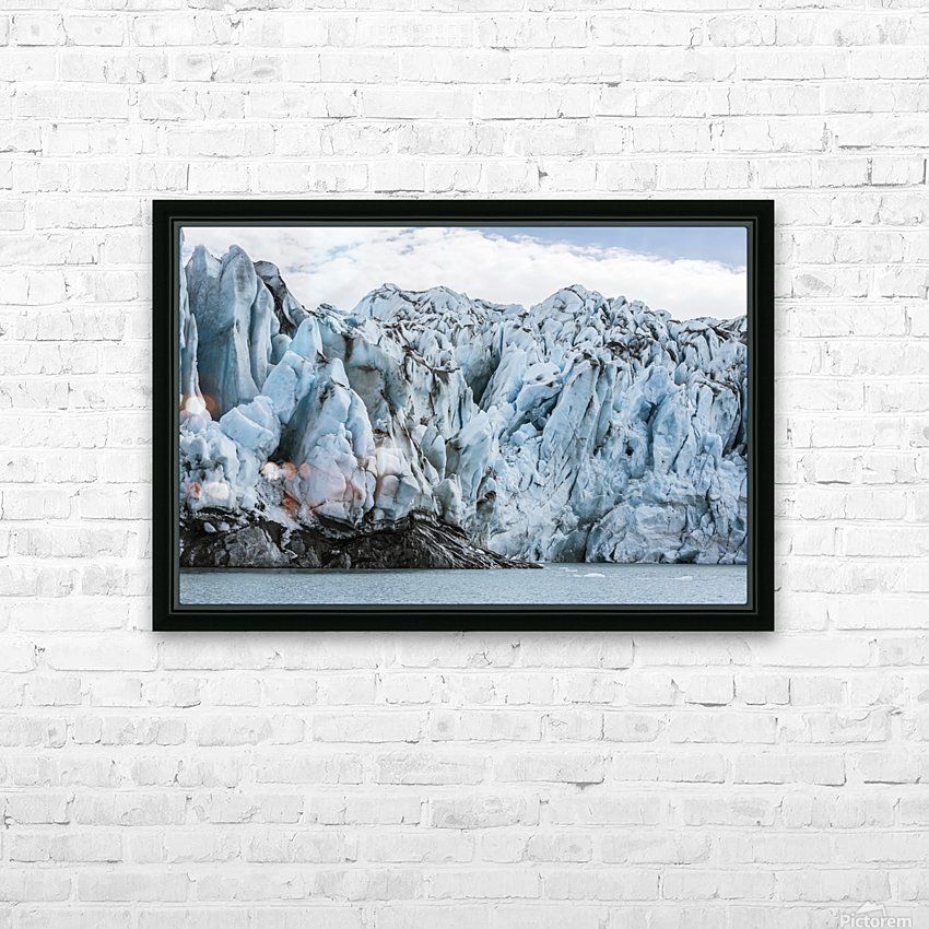 Front face of Colony Glacier, South-central Alaska; Alaska, United States of America HD Sublimation Metal print with Decorating Float Frame (BOX)