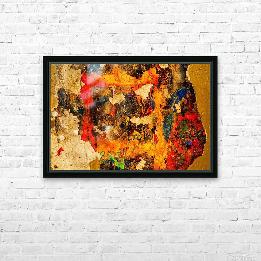 Abstract photo of peeling paint on a concrete wall; Bedford, Nova Scotia, Canada HD Sublimation Metal print with Decorating Float Frame (BOX)