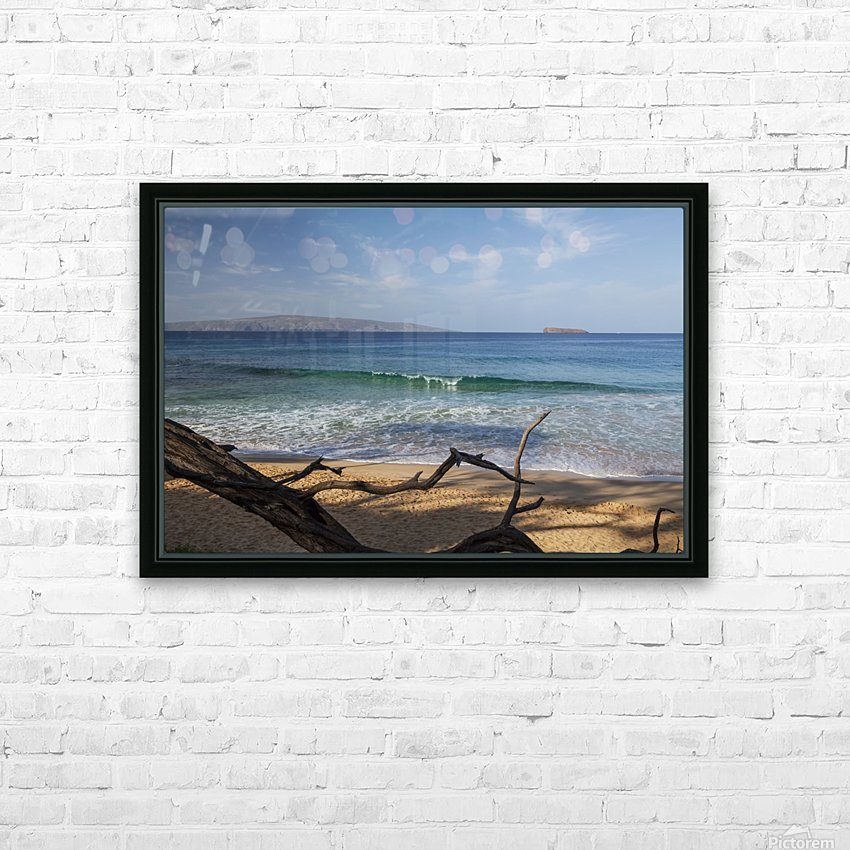 View of Kahoolawe and Molokini Islands from Little Beach at Makena Beach State Park; Maui, Hawaii, United States of America HD Sublimation Metal print with Decorating Float Frame (BOX)