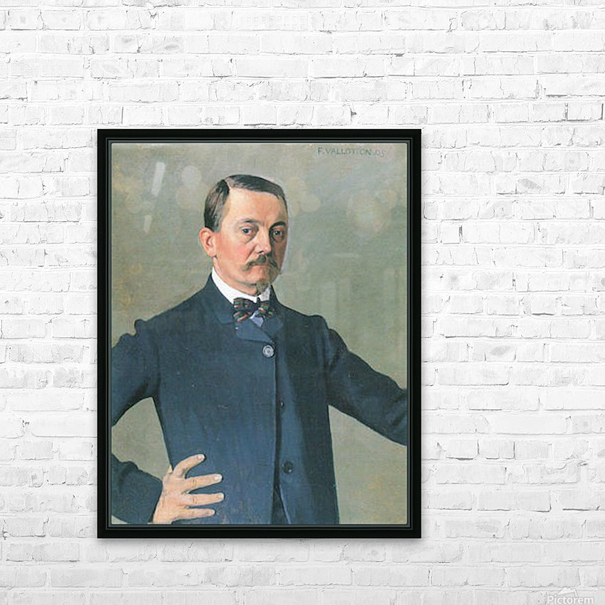 Self-Portrait by Felix Vallotton HD Sublimation Metal print with Decorating Float Frame (BOX)