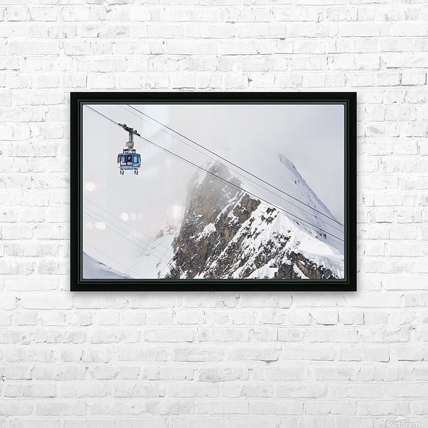 Scenic view of the Titlis Rotair revolving circular tram at Engelberg Resort in Switzerland HD Sublimation Metal print with Decorating Float Frame (BOX)