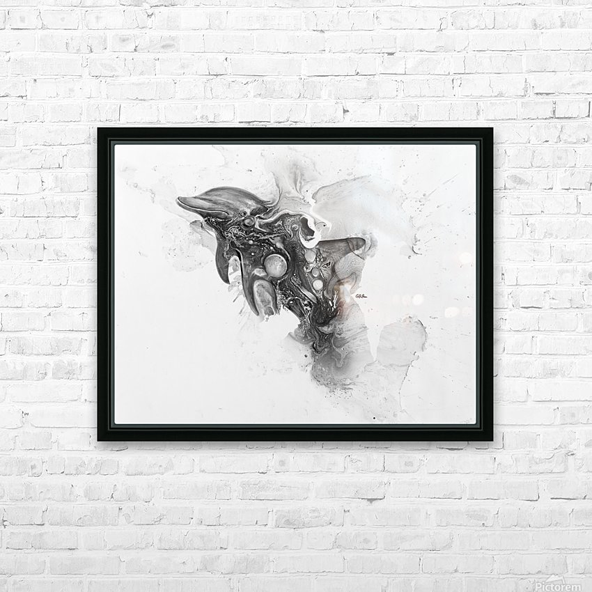 Illustration of a dolphin splashing through the surface of the water HD Sublimation Metal print with Decorating Float Frame (BOX)