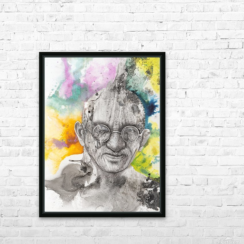 Illustration of a man wearing eyeglasses HD Sublimation Metal print with Decorating Float Frame (BOX)