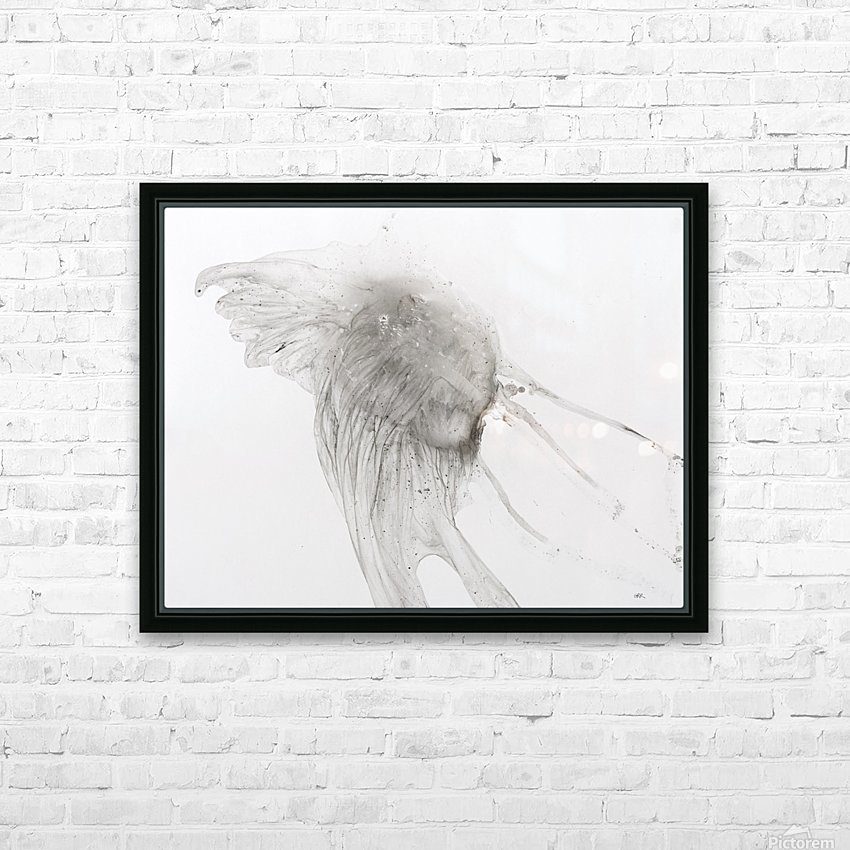 Jellyfish against a white background HD Sublimation Metal print with Decorating Float Frame (BOX)