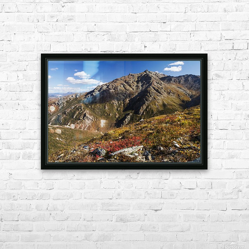 Landscape in the rocky high country of Denali National Park and Preserve, interior Alaska; Alaska, United States of America HD Sublimation Metal print with Decorating Float Frame (BOX)