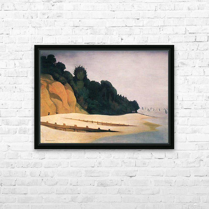 Shore scene with tree silhouette by Felix Vallotton HD Sublimation Metal print with Decorating Float Frame (BOX)
