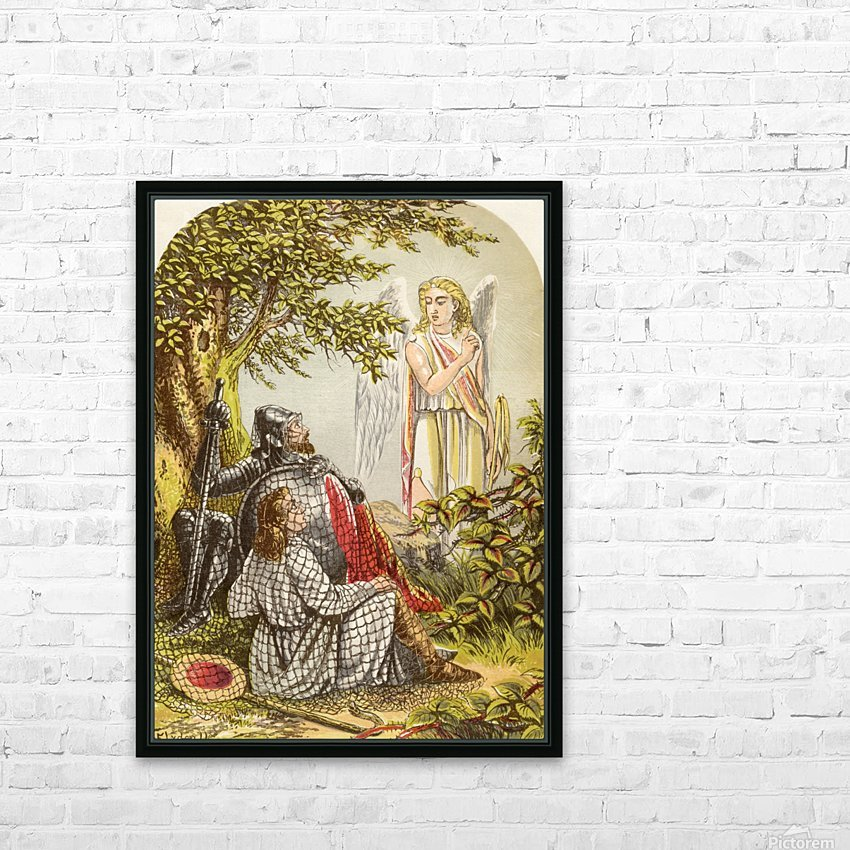 Christian and Hopeful Caught in the Net. Illustration by A.F.Lydon. From the book The Pilgrims Progress by John Bunyan published c.1880. HD Sublimation Metal print with Decorating Float Frame (BOX)