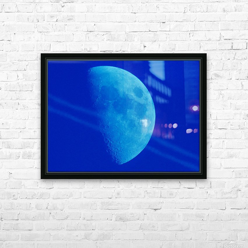 Blue moon HD Sublimation Metal print with Decorating Float Frame (BOX)