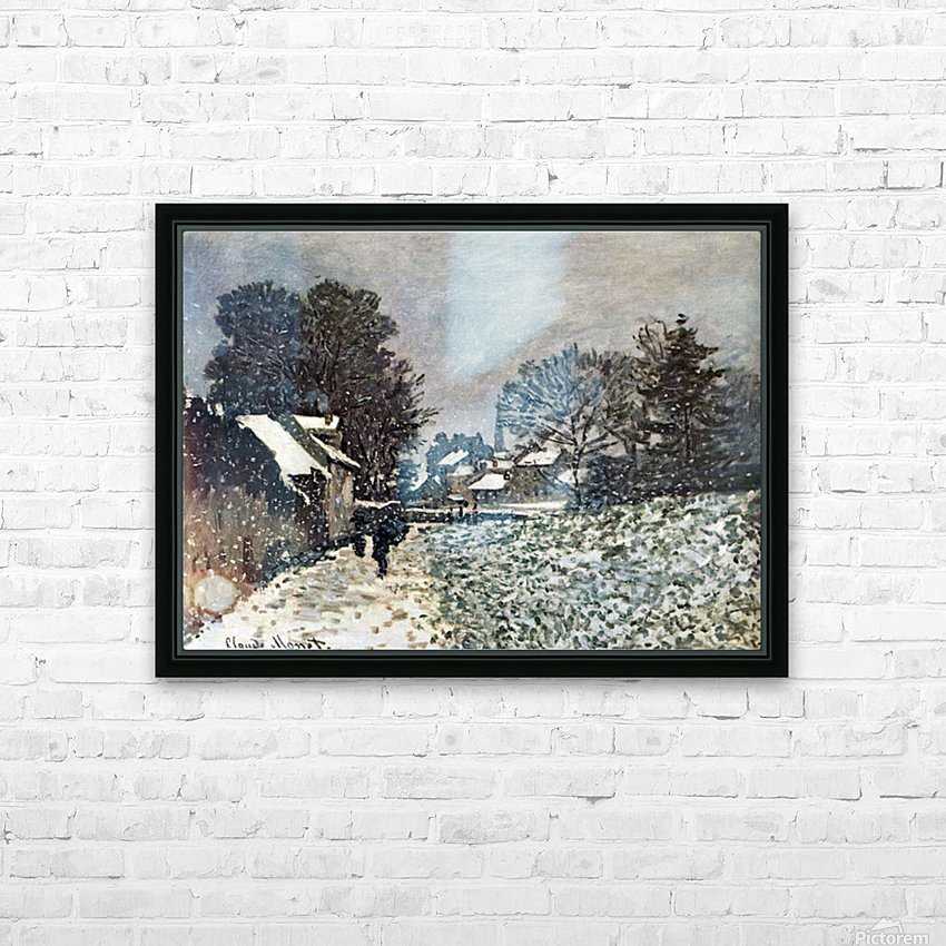 Snow at Argenteuil by Monet HD Sublimation Metal print with Decorating Float Frame (BOX)
