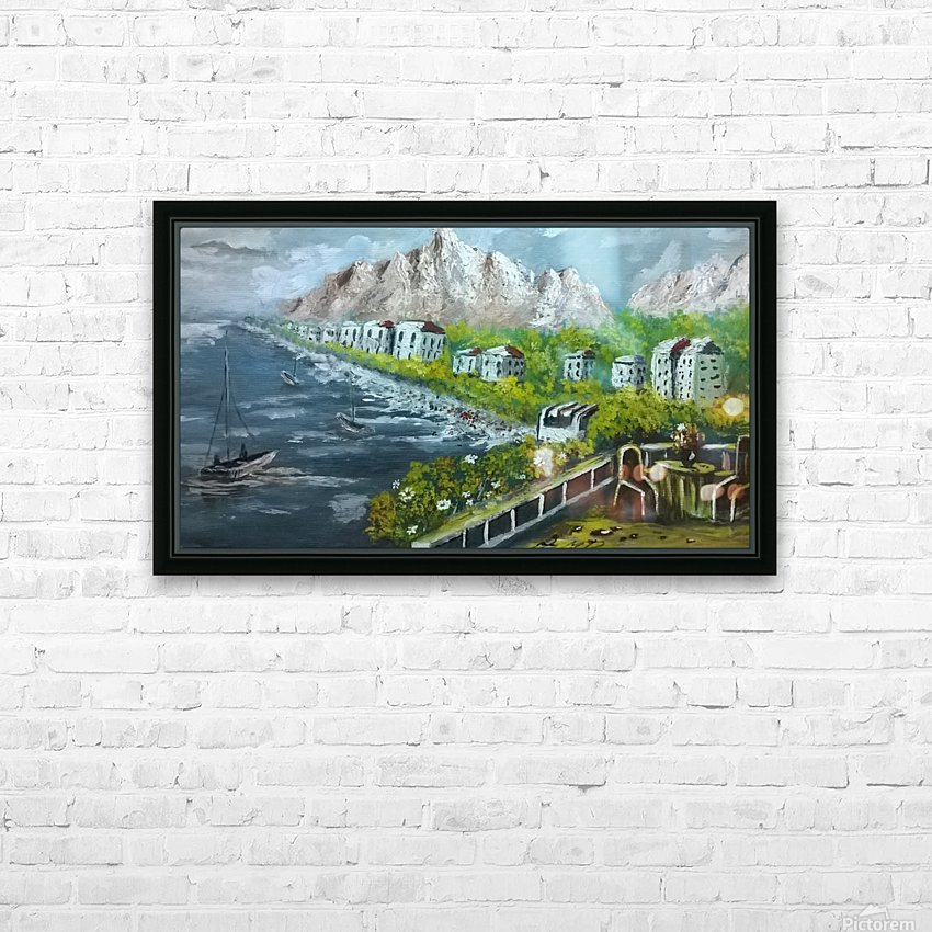 By the shore   HD Sublimation Metal print with Decorating Float Frame (BOX)
