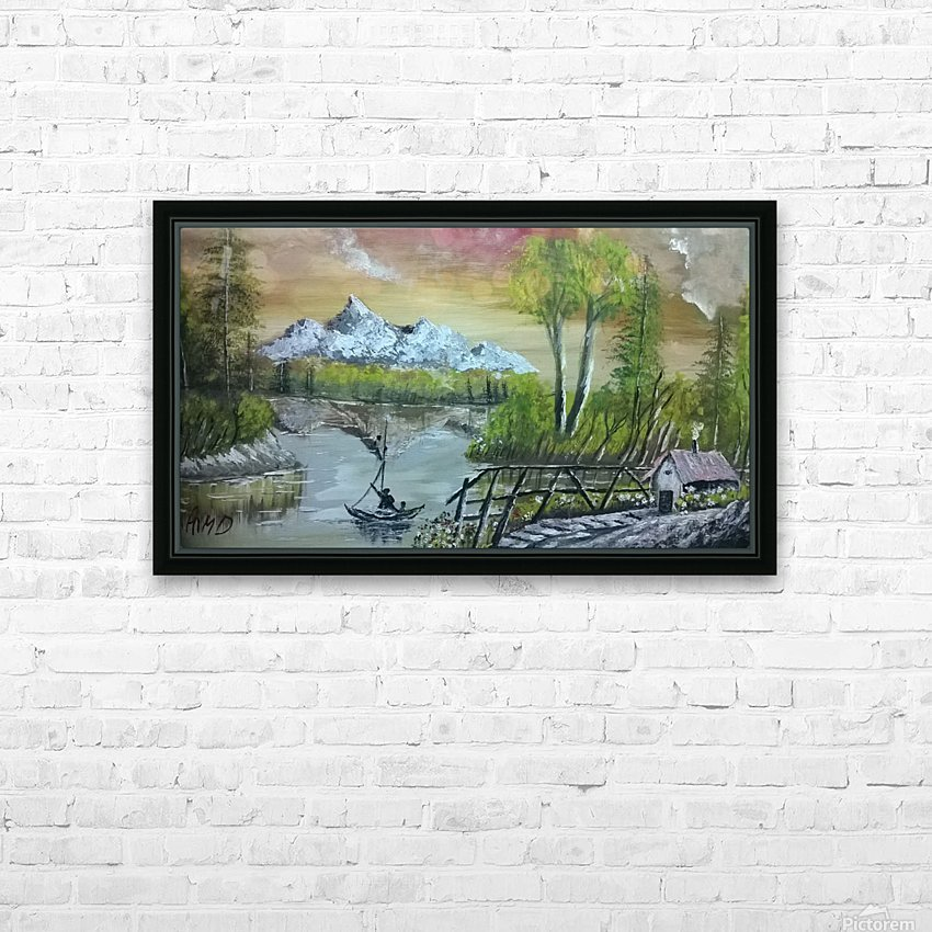 lovely sunset HD Sublimation Metal print with Decorating Float Frame (BOX)