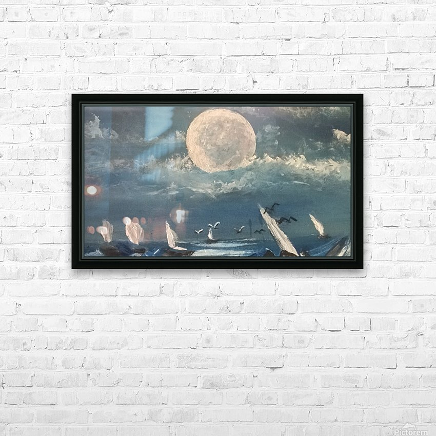 moon aura HD Sublimation Metal print with Decorating Float Frame (BOX)