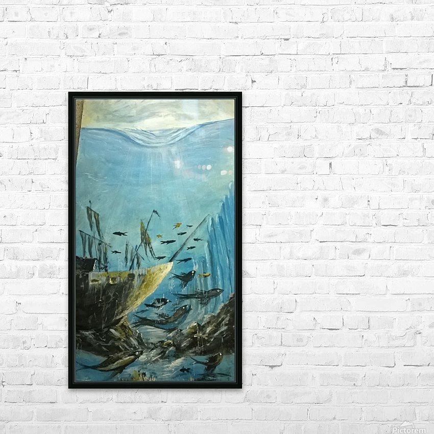 under sea HD sublimation métal imprimé avec décoration flotteur cadre (boîte)