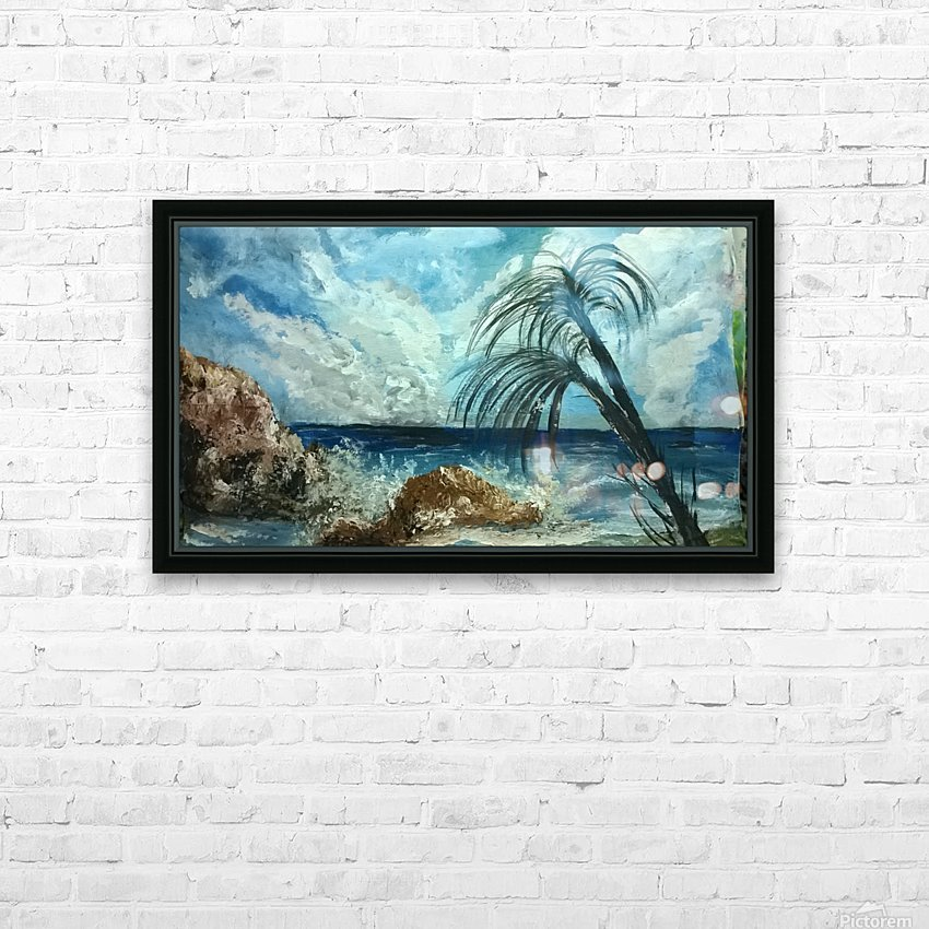 version island    HD Sublimation Metal print with Decorating Float Frame (BOX)