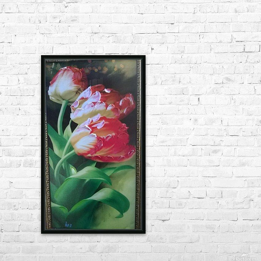 red flowers for  lovers  HD sublimation métal imprimé avec décoration flotteur cadre (boîte)