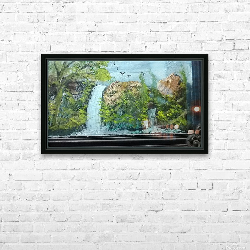water fall HD Sublimation Metal print with Decorating Float Frame (BOX)