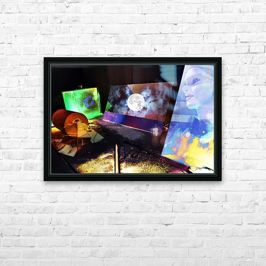 Mysterious Night HD Sublimation Metal print with Decorating Float Frame (BOX)