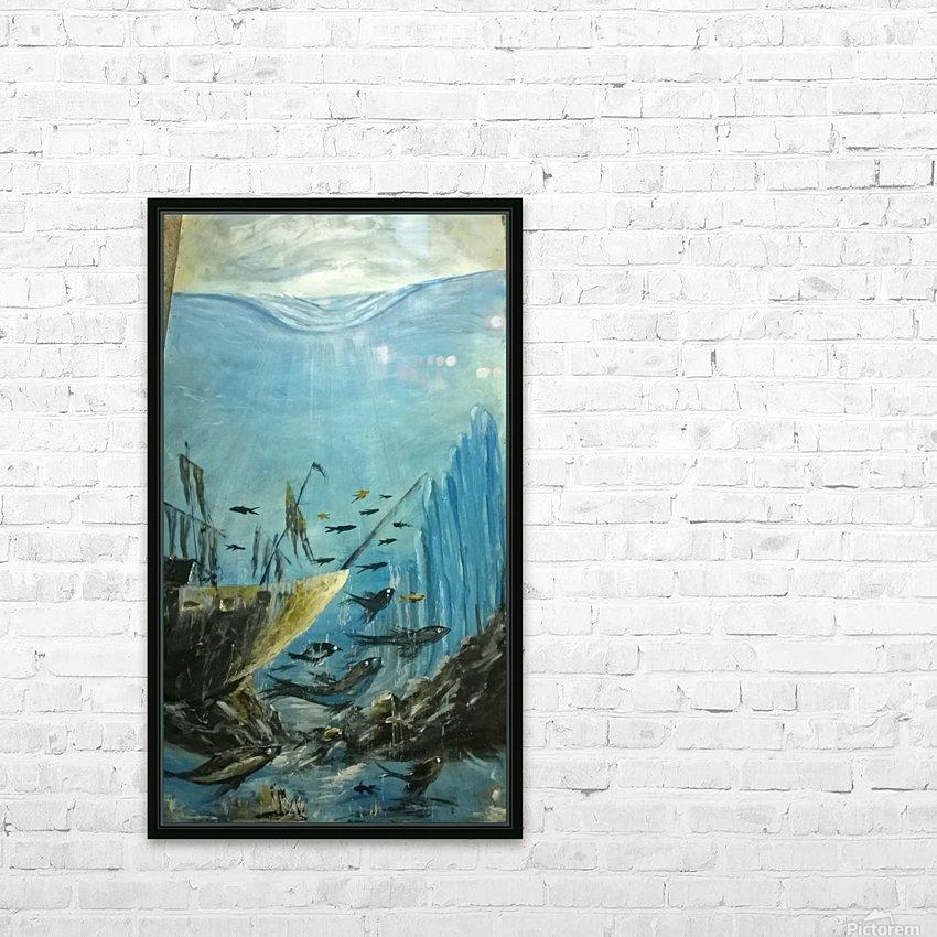 under water HD sublimation métal imprimé avec décoration flotteur cadre (boîte)