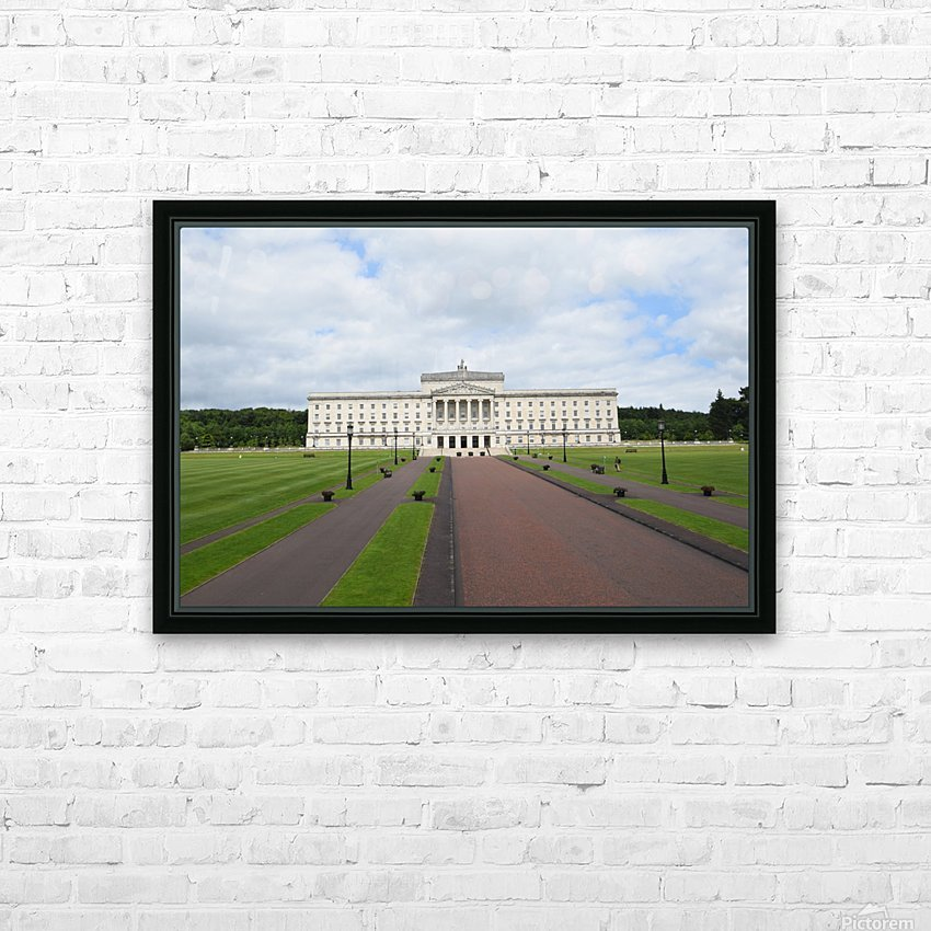 STORMONT, BELFAST HD Sublimation Metal print with Decorating Float Frame (BOX)