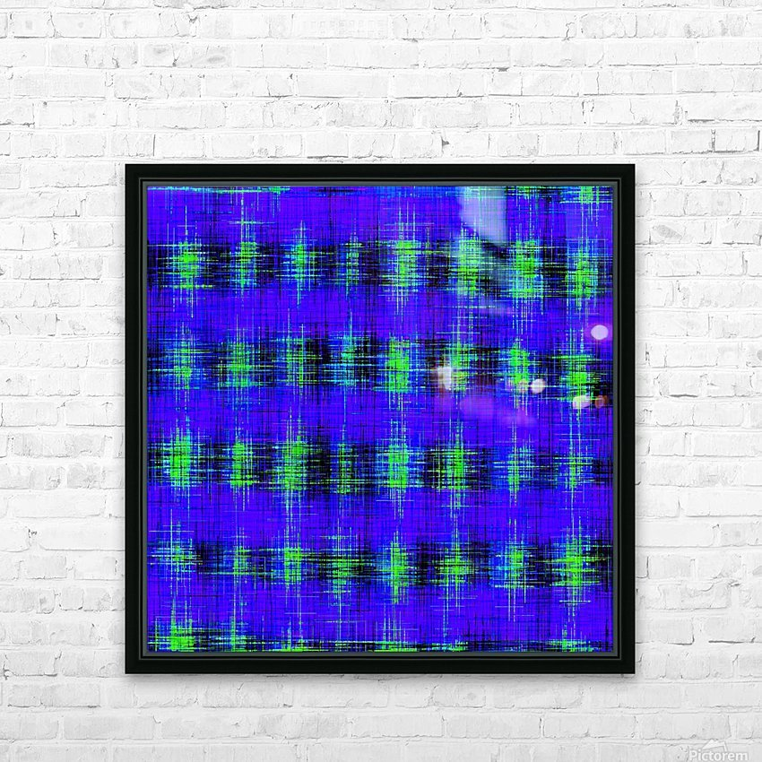 plaid pattern abstract texture in blue green black HD Sublimation Metal print with Decorating Float Frame (BOX)