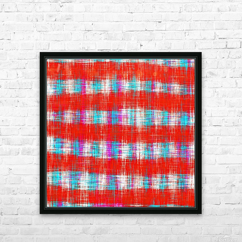 plaid pattern abstract texture in in red blue pink HD Sublimation Metal print with Decorating Float Frame (BOX)