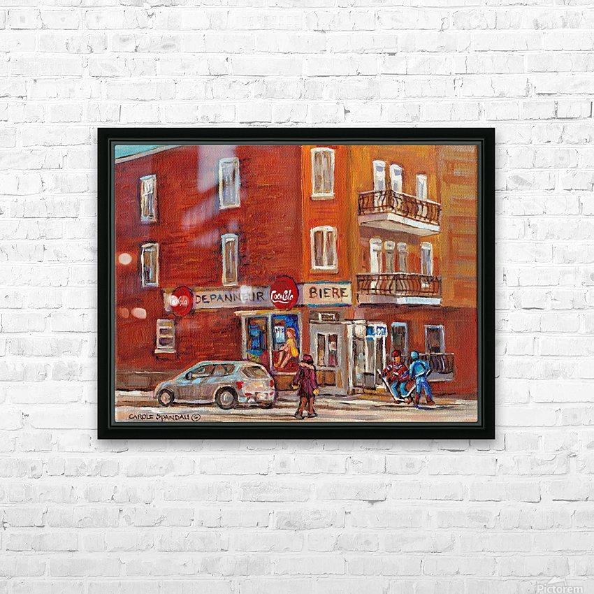 CAROLE SPANDAU  DEPANNEUR BIERE HD Sublimation Metal print with Decorating Float Frame (BOX)
