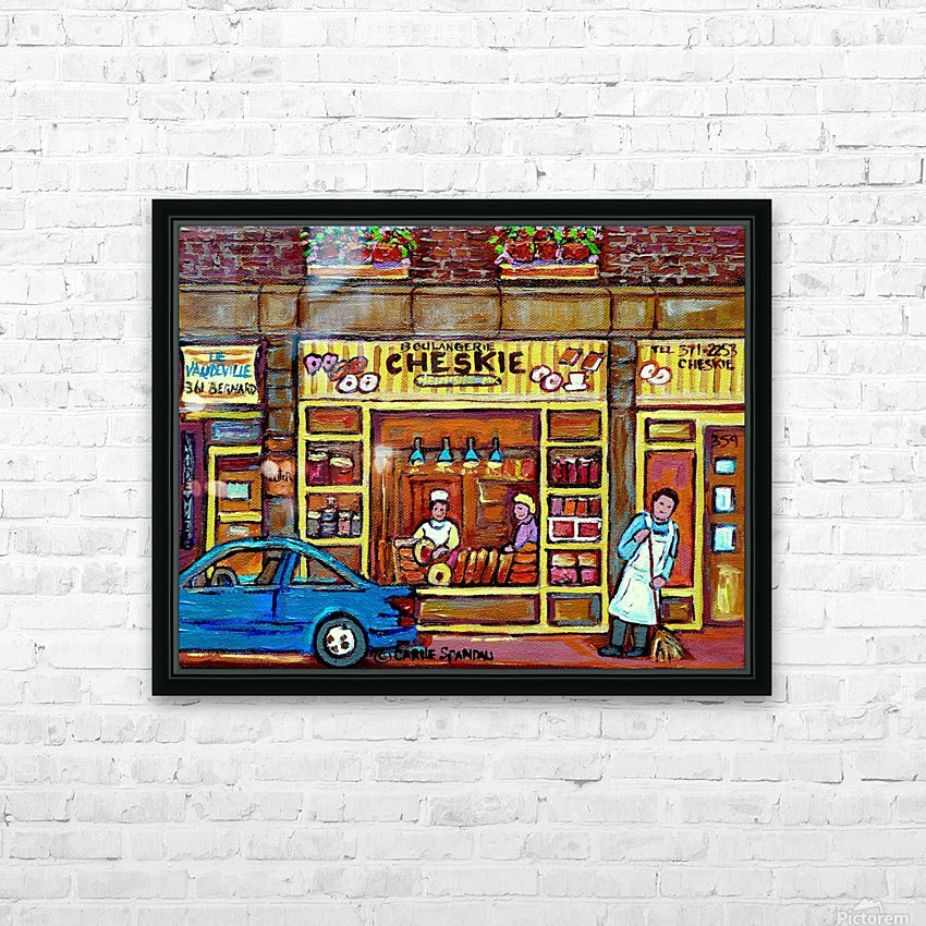 CHESKIES BAKERY RUE BERNARD MONTREAL STREET SCENE HD Sublimation Metal print with Decorating Float Frame (BOX)