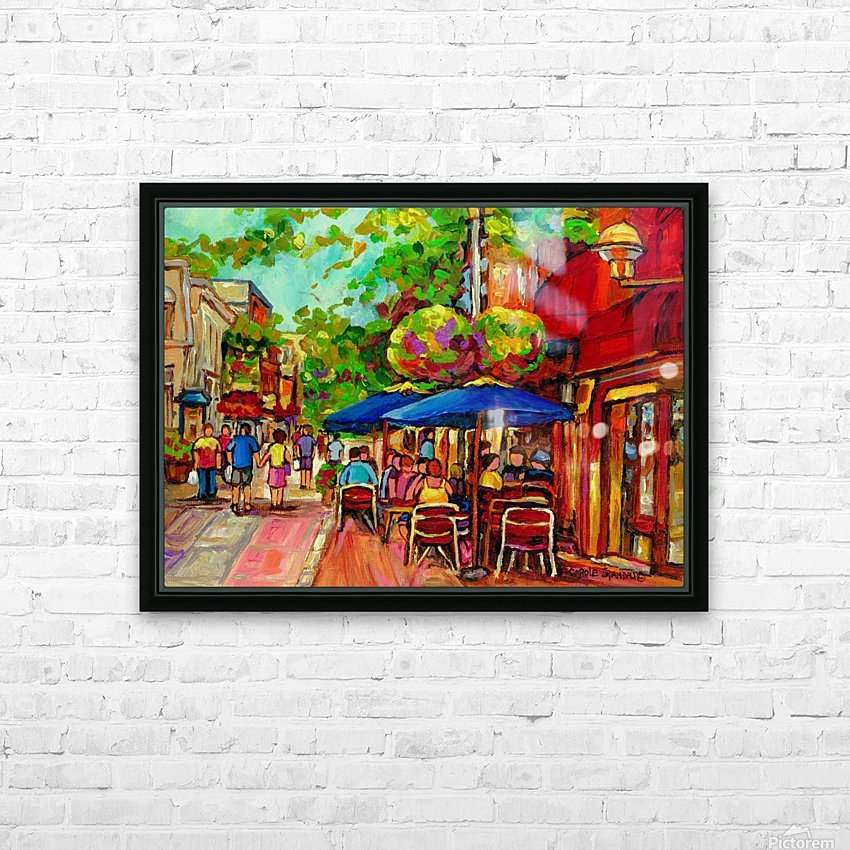 PRINCE ARTHUR CAFES MONTREAL SUMMER SCENE HD Sublimation Metal print with Decorating Float Frame (BOX)