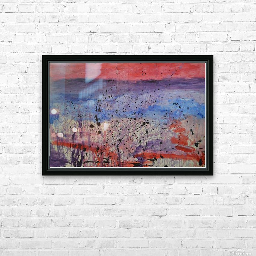 Abstract Sunset Wonder HD Sublimation Metal print with Decorating Float Frame (BOX)