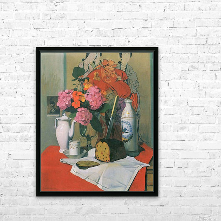 Still life by Felix Vallotton HD Sublimation Metal print with Decorating Float Frame (BOX)