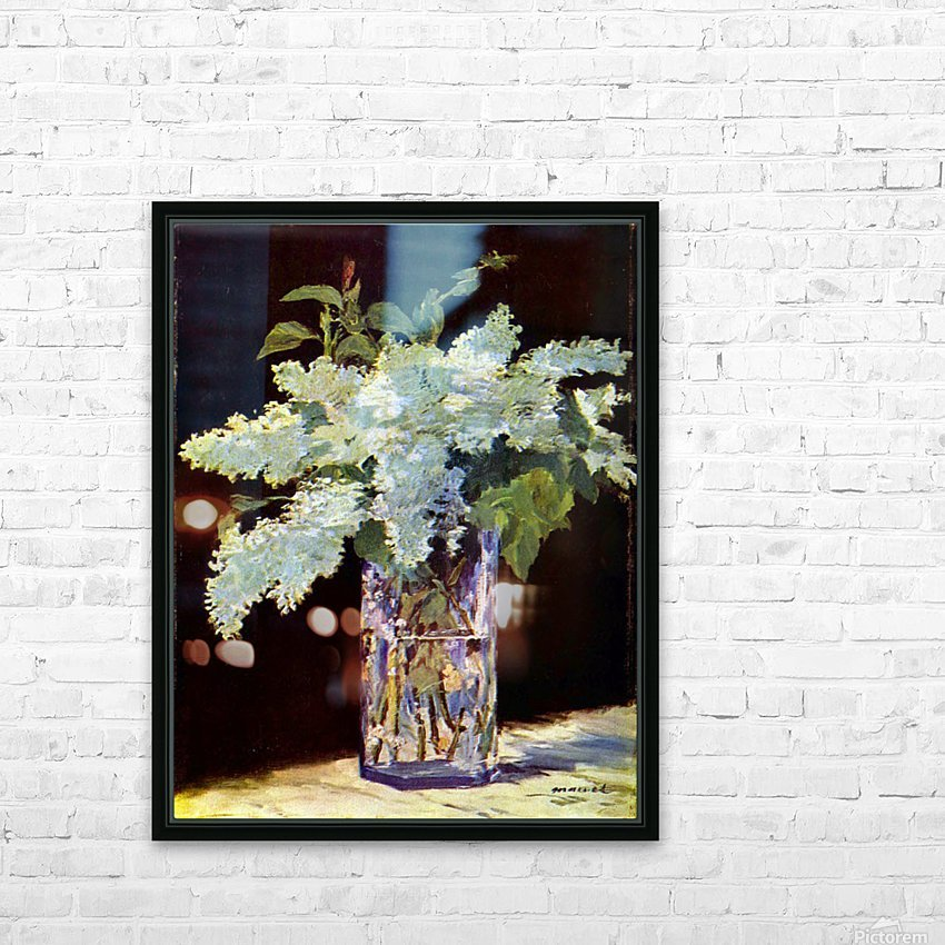 Still Life by Manet HD Sublimation Metal print with Decorating Float Frame (BOX)