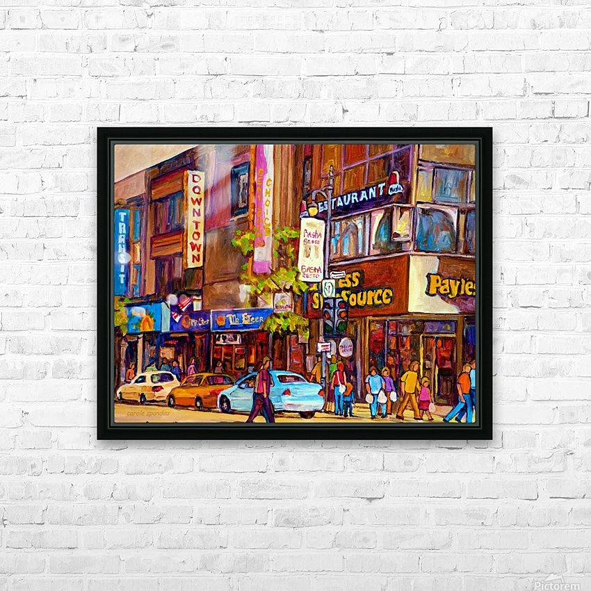 DOWNTOWN MONTREAL ST. CATHERINE WITH PAYLESS STORE HD Sublimation Metal print with Decorating Float Frame (BOX)