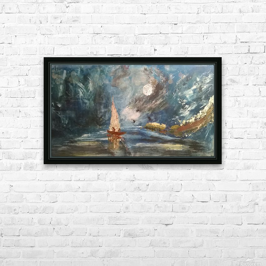 lost boat HD Sublimation Metal print with Decorating Float Frame (BOX)